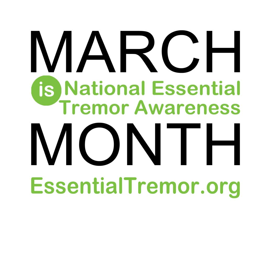 Logo for National Essential Tremor Awareness Month